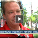 Residents upset at Google contractor work